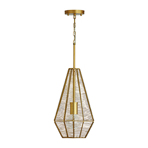 Sonja Honey Gold One-Light Pendant