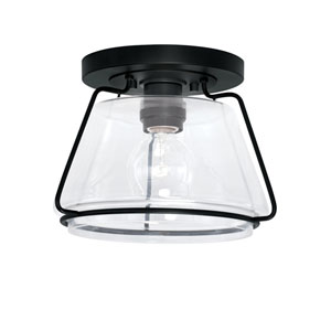 Matte Black One-Light Flush Mount