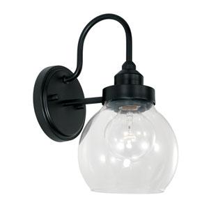 Matte Black Six-Inch One-Light Sconce