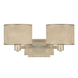 Luna Winter Gold Two-Light Bath Fixture