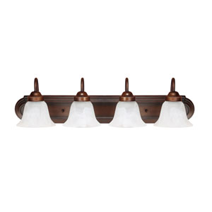Burnished Bronze Four-Light Vanity Fixture