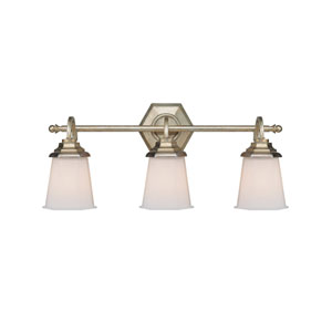 Fifth Avenue Winter Gold Three-Light Bath Fixture
