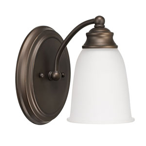 Capital Vanities Burnished Bronze One-Light Wall Sconce