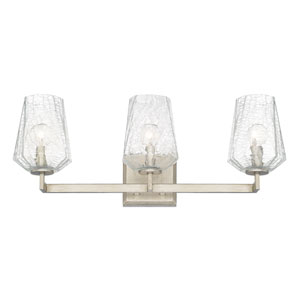 Arden Brushed Silver Three-Light Vanity
