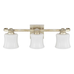 Carlyle Gilded Silver Three-Light Vanity