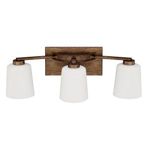 Reid Rustic Three-Light Vanity