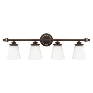 Asher Champagne Bronze Four-Light Vanity