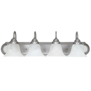 Matte Nickel Four-Light Bath Fixture