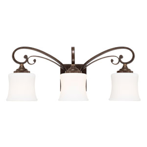 Kingsley Dark Spice Three-Light Vanity