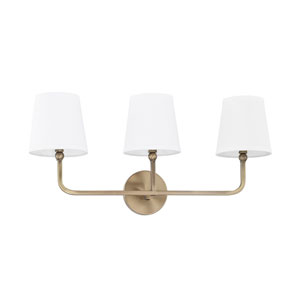 Dawson Aged Brass Three-Light Bath Vanity