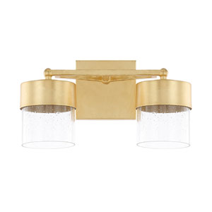 Regan Capital Gold Two-Light LED Bath Vanity