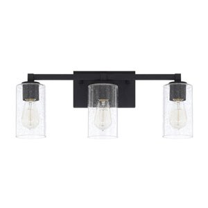 Ravenwood Black Iron Three-Light Bath Vanity