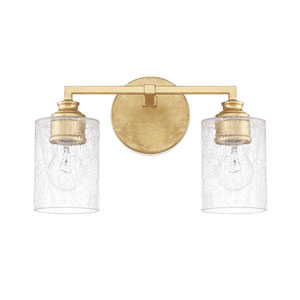 Milan Capital Gold Two-Light Bath Vanity
