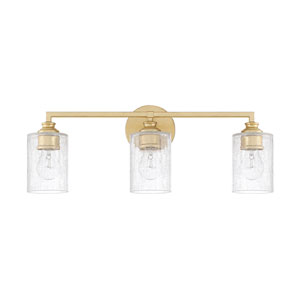 Milan Capital Gold Three-Light Bath Vanity