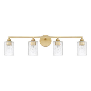 Milan Capital Gold Four-Light Bath Vanity