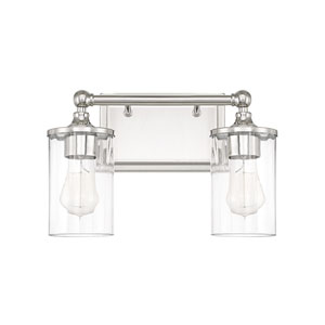 Camden Polished Nickel Two-Light Bath Vanity