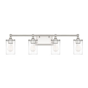 Camden Polished Nickel Four-Light Bath Vanity