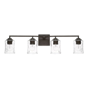 Porter Renaissance Brown Four-Light Bath Vanity