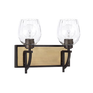 Cole Aged Brass and Old Bronze Two-Light Bath Vanity