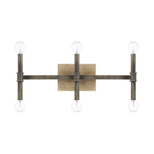Gavin Iron and Gold Six-Light Bath Vanity