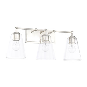 Polished Nickel 24-Inch Three-Light Bath Vanity
