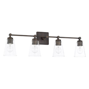 Old Bronze 33-Inch Four-Light Bath Vanity