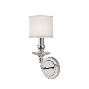 Midtown Polished Nickel One-Light Sconce