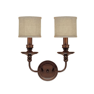 Midtown Burnished Bronze Two-Light Sconce