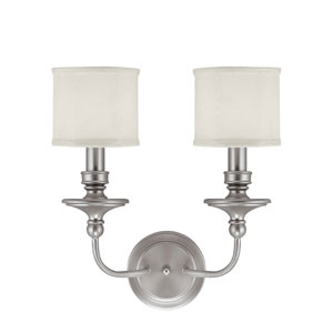 Midtown Matte Nickel Two-Light Sconce
