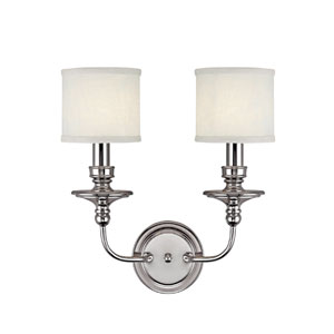 Midtown Polished Nickel Two-Light Sconce