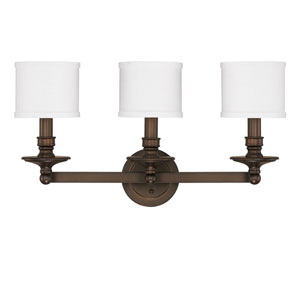 Midtown Burnished Bronze Three-Light Vanity