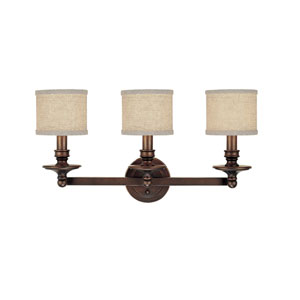 Midtown Burnished Bronze Three-Light Bath Fixture