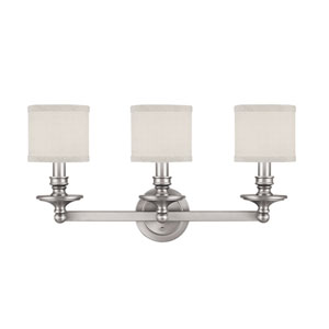 Midtown Matte Nickel Three-Light Bath Fixture