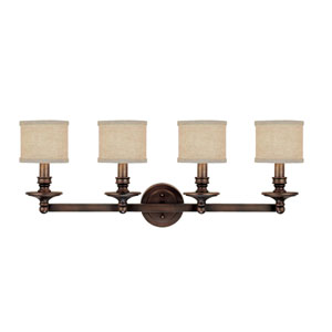 Midtown Burnished Bronze Four-Light Bath Fixture