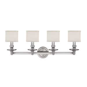 Midtown Matte Nickel Four-Light Bath Fixture