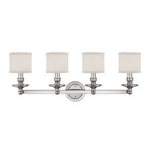 Midtown Polished Nickel Four-Light Bath Fixture