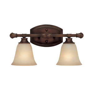 Belmont Burnished Bronze Two-Light Bath Fixture
