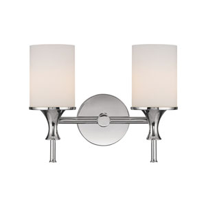 Studio Polished Nickel Two-Light Bath Fixture