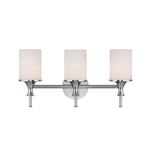 Studio Polished Nickel Three-Light Bath Fixture