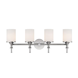 Studio Polished Nickel Four-Light Bath Fixture