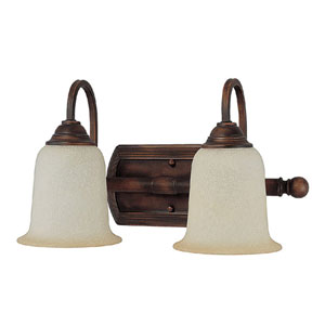 Metro Burnished Bronze Two-Light Bath Fixture
