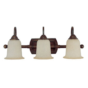 Metro Burnished Bronze-Three-Light Bath Fixture