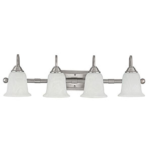 Metro Matte Nickel Four-Light Bath Fixture