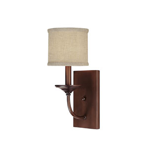 Loft Burnished Bronze One-Light Sconce