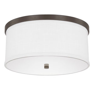 Midtown Burnished Bronze Three-Light Flush Mount