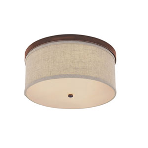 Midtown Burnished Bronze Flush Mount