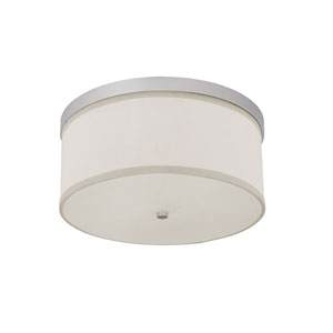 Midtown Matte Nickel Flush Mount