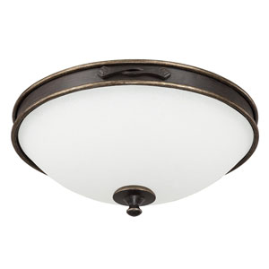 Wyatt Surrey Three-Light Flush Mount with Misty White Glass