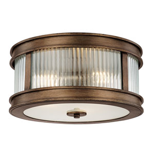 Reid Rustic Three-Light Flush Mount