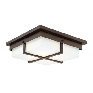 Capital Ceilings Burnished Bronze One-Light LED Square Flush Mount